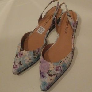 New Christian Siriano Floral Slip On